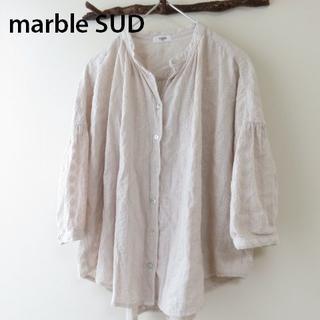 marble ink - marble SUD マーブルシュッド 総刺繍 ブラウス シャツ