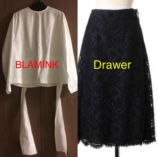 Drawer - 10/14限定【計17万】BLAMINK ブラウス Drawer レーススカート