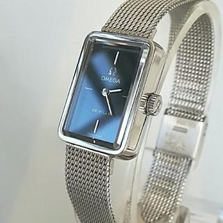オメガ(OMEGA)の⭐OH済 綺麗 オメガ 時計 レディースウォッチ ネイビー 卒業式七五三 極美品(腕時計)