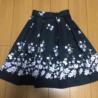 デビュードフィオレ(Debut de Fiore)のDebut de Fiore 裾フラワースカート(ひざ丈スカート)
