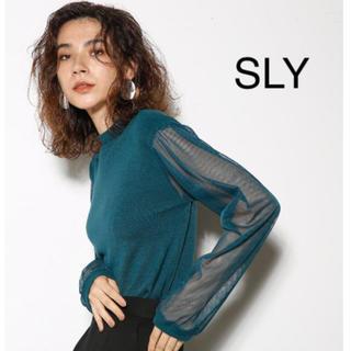 スライ(SLY)のSLY♡シースルーニットtops(カットソー(長袖/七分))