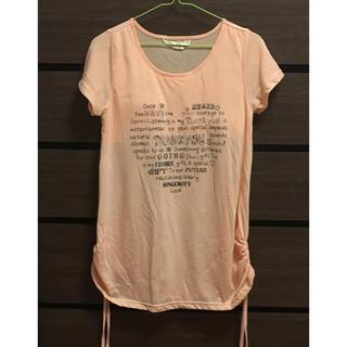 シマムラ(しまむら)のオレンジ 半袖 シャツ(Tシャツ/カットソー(半袖/袖なし))