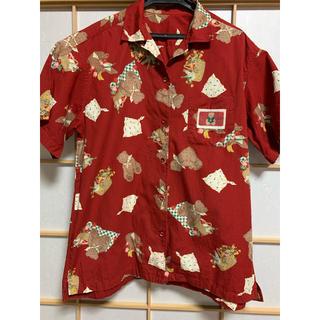 ピンクハウス(PINK HOUSE)のピンクハウス 綿100% シャツ くまさんアロハ M(シャツ/ブラウス(半袖/袖なし))