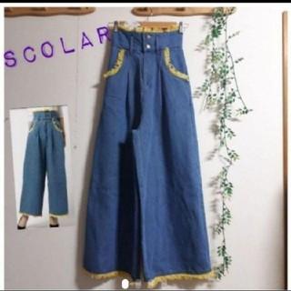 スカラー(ScoLar)の新品(M)定価8532 Scolar フリンジ デニム ジーンズ(デニム/ジーンズ)