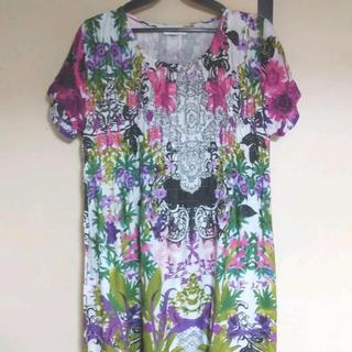 【M~Lサイズ】花柄 おしゃれ 可愛い ルームウェア ワンピース パジャマ