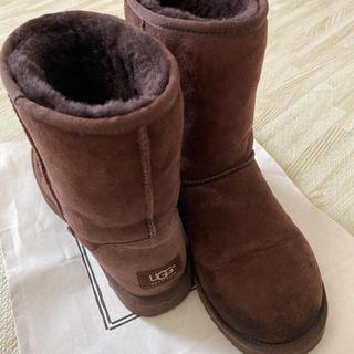 アグ(UGG)のUGG アグ ムートンブーツ 24センチ ブラウン(ブーツ)
