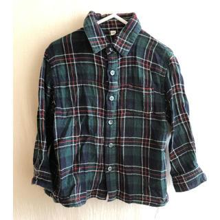 ムジルシリョウヒン(MUJI (無印良品))の367.無印良品/チェック柄長袖シャツ100(ブラウス)