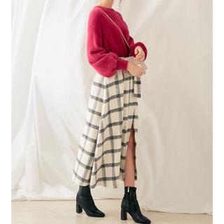 MERCURYDUO - マーキュリーデュオ チェスカート ホワイトスカート スリット入りスカート