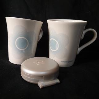 マリークワント(MARY QUANT)の未使用品・MARY QUANT ノベルティ カップとトラベル時計セット(グラス/カップ)