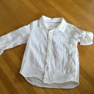 ザラキッズ(ZARA KIDS)のZARA キッズ 男の子 白シャツ フォーマル(ブラウス)