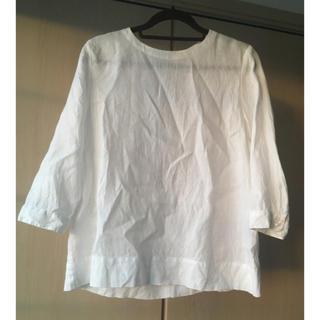 MUJI (無印良品) - 無印 リネンシャツ 白色