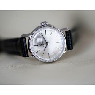 オメガ(OMEGA)の美品 オメガ カットガラス シルバー 手巻き レディース Omega(腕時計)