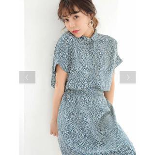 キューブシュガー(CUBE SUGAR)のSUGAR SPOON SET2点小花柄シャツ×スカート(ロングワンピース/マキシワンピース)