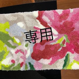 花柄 玄関マット
