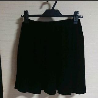 LOWRYS FARM - LOWRYSFARM ベロア スカート 黒