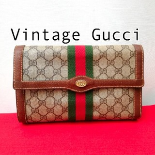 Gucci - 良品 オールドグッチ シェリー ビンテージクラッチバッグ セカンドバッグ 正規品