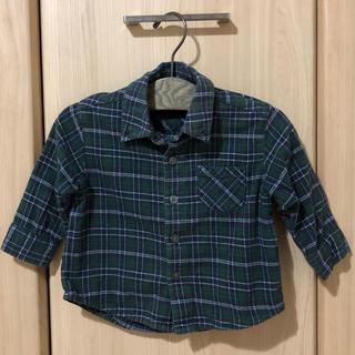 ムジルシリョウヒン(MUJI (無印良品))のMUJIのネルシャツ 80cm(シャツ/カットソー)