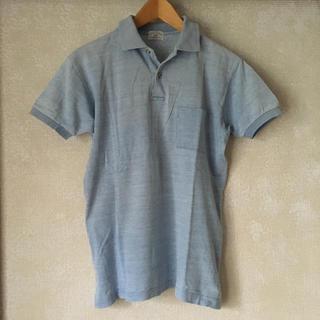 ズーム(Zoom)の古着 メンズ レディース 半袖 ポロシャツ サックスブルー 水色 M(ポロシャツ)