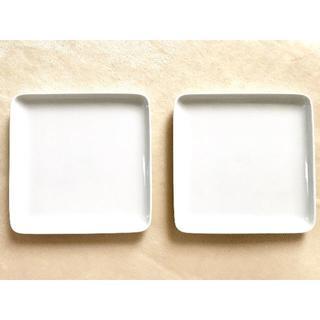 ムジルシリョウヒン(MUJI (無印良品))の☆無印良品 白磁正角皿・大 約幅18×奥行18×高さ2cm 2枚☆(食器)