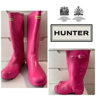 ハンター(HUNTER)の希少カラー ハンター ショッキングピンク レインブーツ(レインブーツ/長靴)