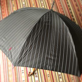 ポロラルフローレン(POLO RALPH LAUREN)の訳有新品 ポロラルフローレン 紳士 雨傘 65cm 傘 長傘 濃灰 ストライプ(傘)
