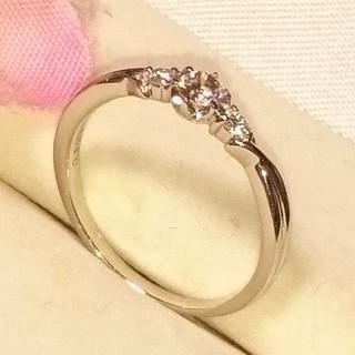 サマンサティアラ(Samantha Tiara)のPT ピンクダイヤモンドリング(リング(指輪))