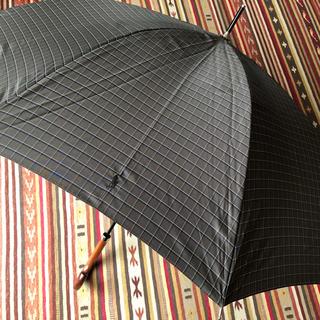 ポロラルフローレン(POLO RALPH LAUREN)の訳有新品 ポロラルフローレン 紳士 雨傘 65cm 傘 長傘 濃灰 チェック(傘)