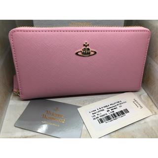 ヴィヴィアンウエストウッド(Vivienne Westwood)のヴィヴィアンウエストウッド  長財布 ライトピンク  ファスナー式 新品未使用(財布)