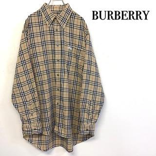 BURBERRY - 【美品 BURBERRY ノヴァチェク BDシャツ 刺繍ホースロゴ】