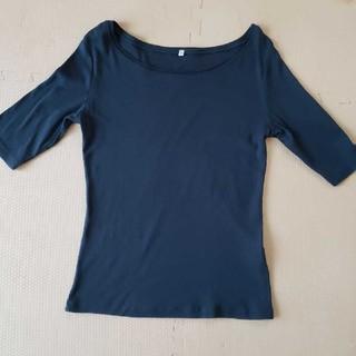 MUJI (無印良品) - 無印良品 五分袖カットソー