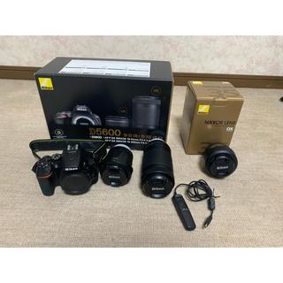 Nikon - Nikon D5600 ダブルズームキット・単焦点レンズ・レリーズ