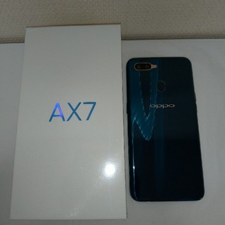 ANDROID - oppo ax7 ブルー ほぼ新品未使用