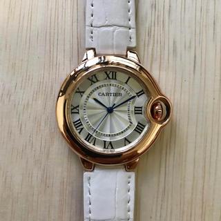 Cartier - レディース 腕時計 バロンブルー 白色ベルト