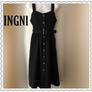 イング  共ベルト付前ボタン/ジャンパースカート