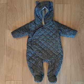 ギャップ(GAP)の【美品】【60cm】babyGAP ジャンプスーツ くま キルティング 防寒(カバーオール)
