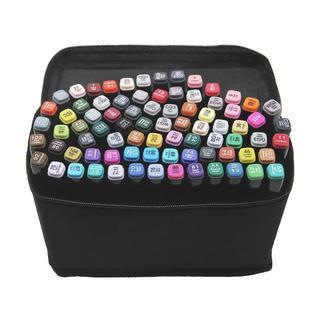 マーカーペン イラストマーカー 油性ぺン 40色セット 2種類のペン先