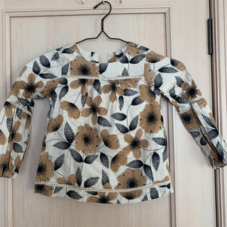 ギャップ(GAP)のGAP  110 ブラウンベース チュニック バルーン袖(Tシャツ/カットソー)