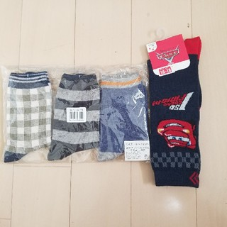 ベルメゾン(ベルメゾン)の新品未使用16~18センチ 男児靴下4セット(靴下/タイツ)