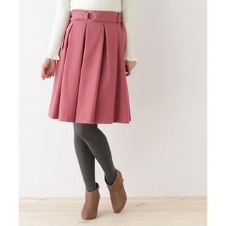 クチュールブローチ(Couture Brooch)のクチュールブローチ*ベルト付きタックスカート(ひざ丈スカート)