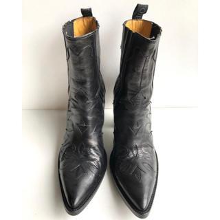 サルトル(SARTORE)の37.5 SARTORE サルトル サイドゴア ショートブーツ ウエスタン 黒(ブーツ)