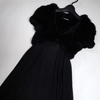ストロベリーフィールズ(STRAWBERRY-FIELDS)の【送料込】◆STRAWBERRY-FIELDS◆黒の ラビットファー ボレロ(毛皮/ファーコート)