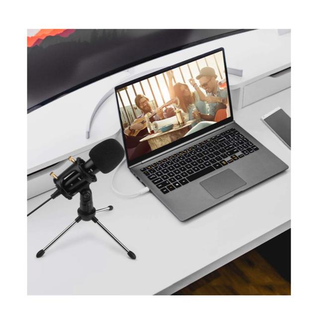 USB コンデンサーマイク YouTube ゲーム実況 スマホ/家電/カメラのPC/タブレット(PC周辺機器)の商品写真