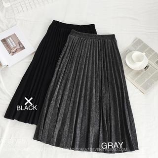 プリーツロングスカート  3XL(ロングスカート)
