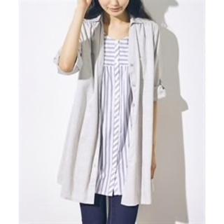 ニッセン(ニッセン)の重ね着風七分袖シャツ トールサイズ(チュニック)