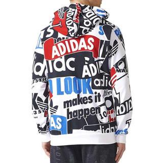 アディダス(adidas)のADIDAS AOP LOUD FZ HOODIE / S(パーカー)
