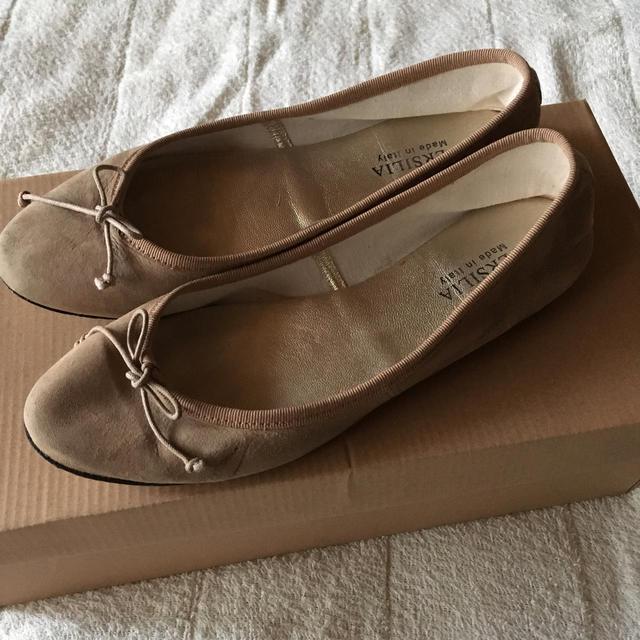 IENA SLOBE(イエナスローブ)のVERSILIA  スウェードバレエシューズ レディースの靴/シューズ(バレエシューズ)の商品写真
