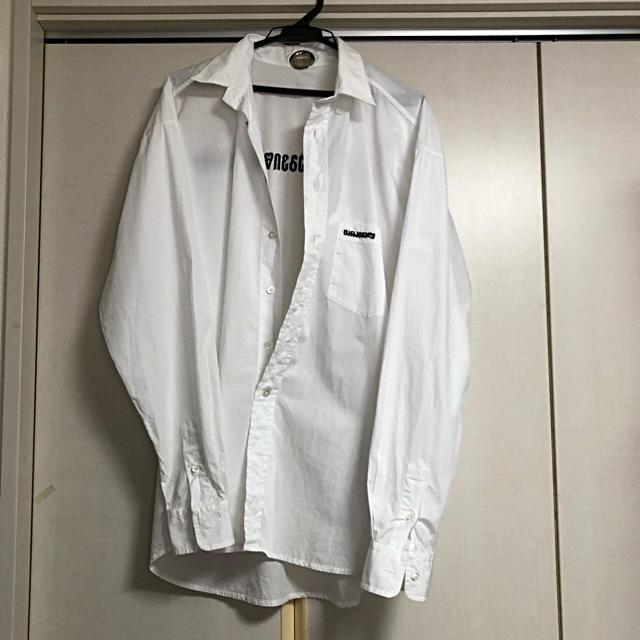 Balenciaga(バレンシアガ)のvetements ヴェトモン ロゴ オーバーサイズ シャツ sサイズ メンズのトップス(シャツ)の商品写真