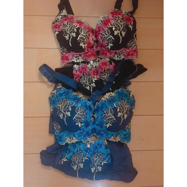 新品未使用 脇高ブラ ブラジャー&ショーツ 2セット レディースの下着/アンダーウェア(ブラ&ショーツセット)の商品写真