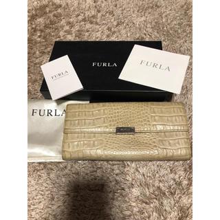 フルラ(Furla)のフルラ クロコ 財布 中古品(長財布)