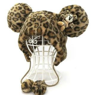 Disney - Disney ミニーマウス ファンキャップ ヒョウ柄